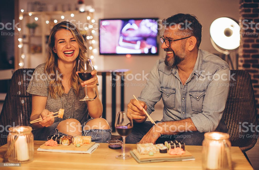 Sushi evening stock photo