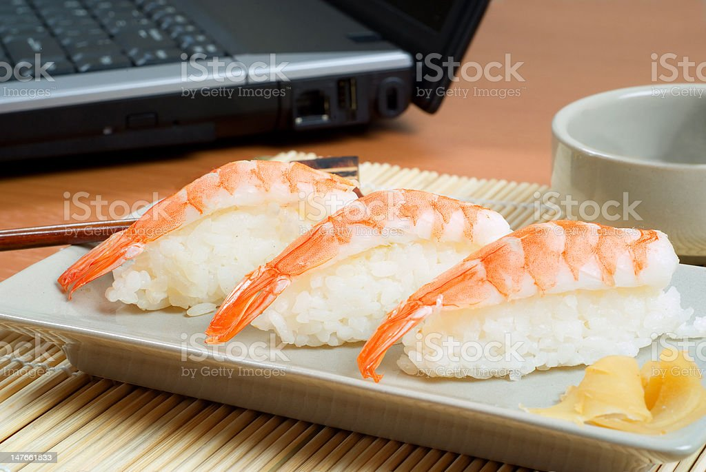 Sushi for business lunch royalty-free stock photo