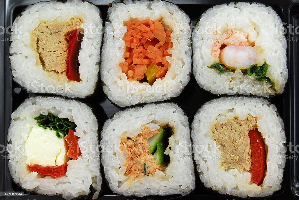sushi futomaki selection royalty-free stock photo