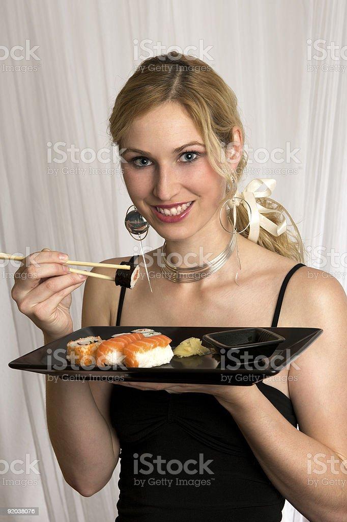 Sushi Girl royalty-free stock photo