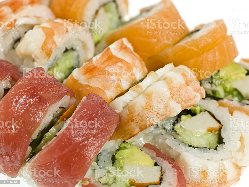 Sushi Hand rolls royalty-free stock photo