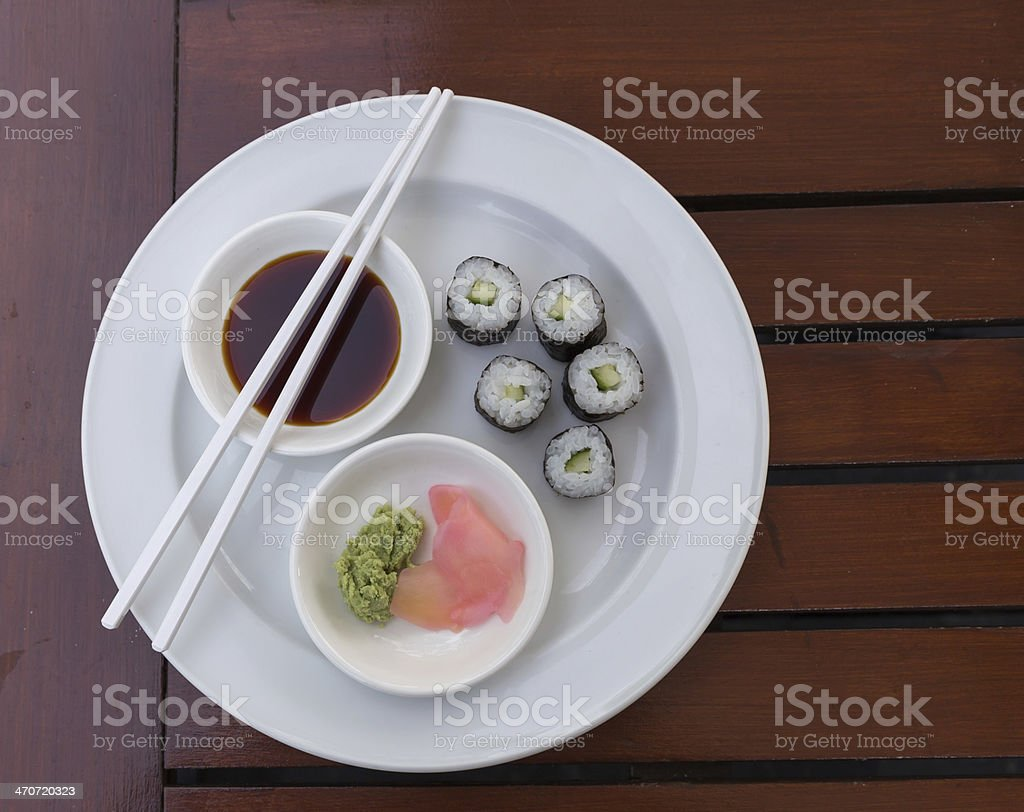 Sushi Hoso Maki stock photo