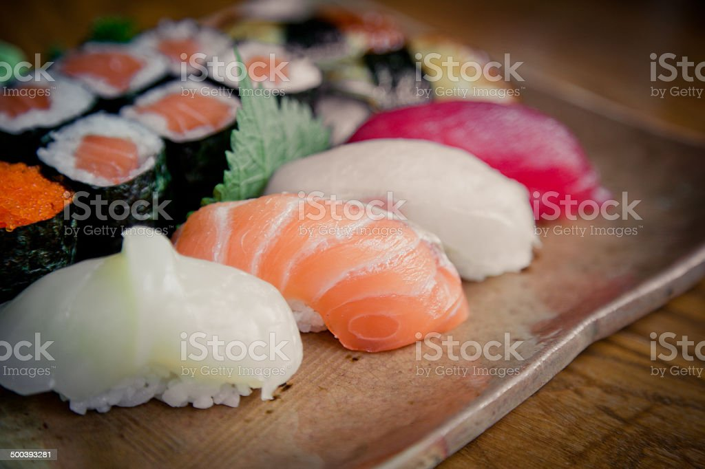 Sushi in thailand stock photo