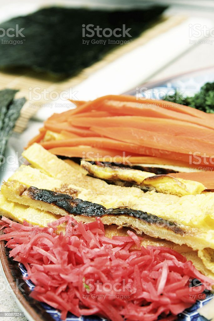 sushi ingredients royalty-free stock photo