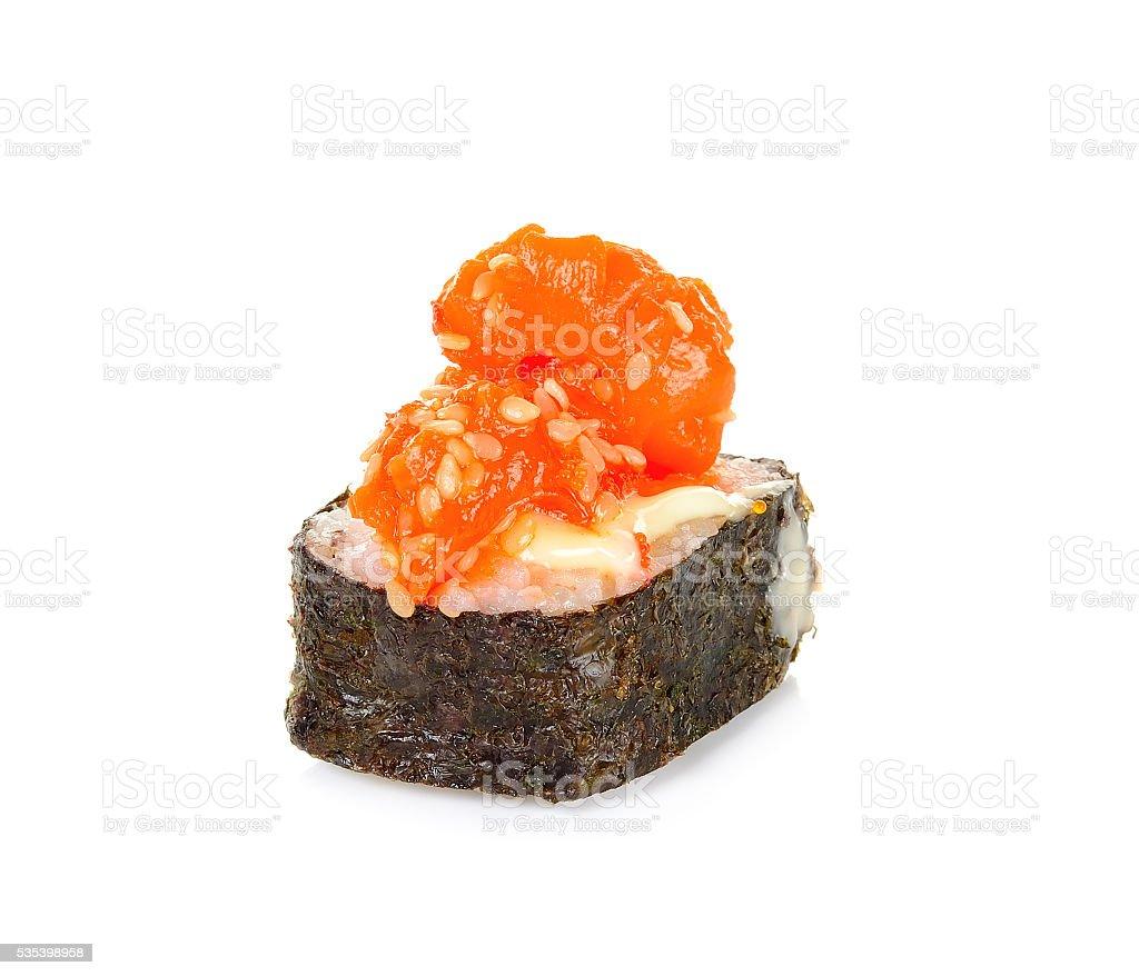 Sushi isolated on the white background stock photo
