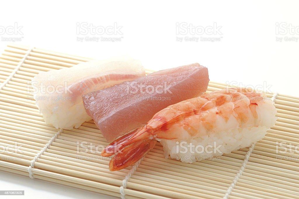 sushi isolated on white background royalty-free stock photo