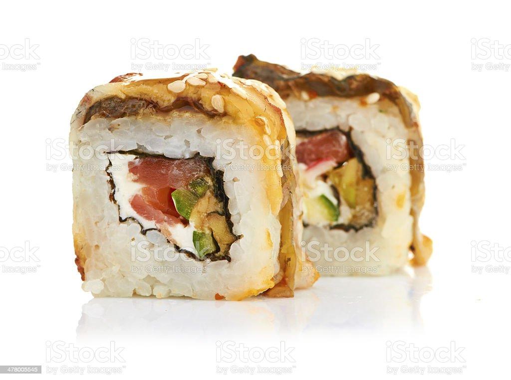 sushi isolated on white royalty-free stock photo