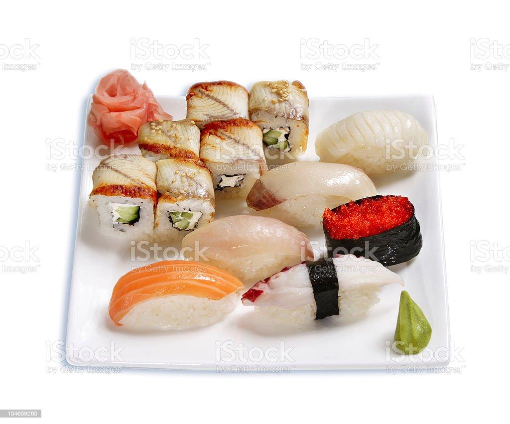 sushi isolated royalty-free stock photo