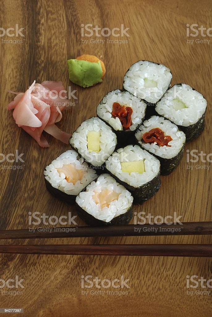 Sushi - Japanese food royalty-free stock photo