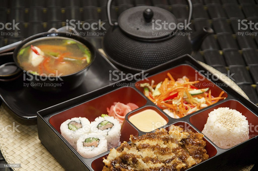 Sushi lunch royalty-free stock photo