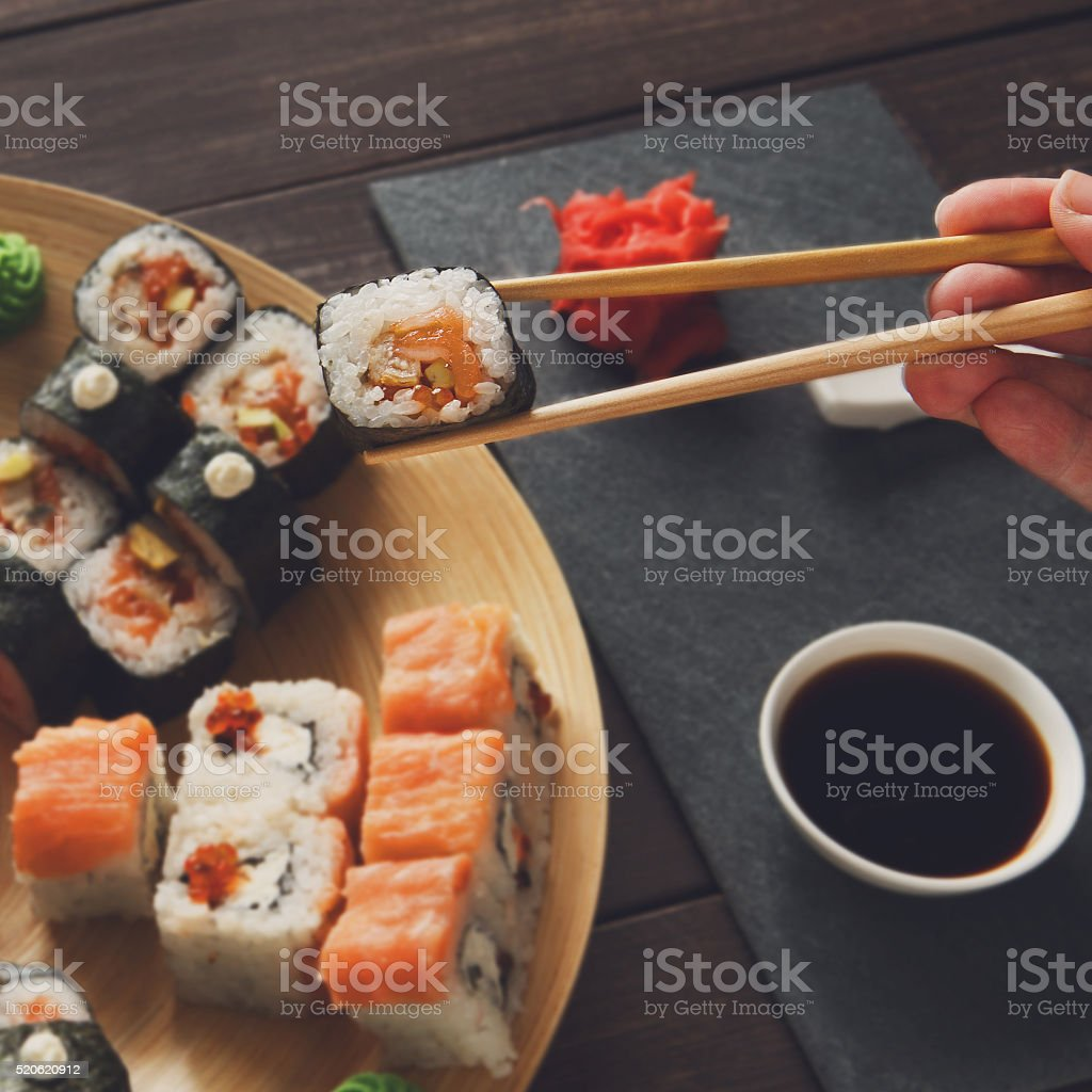 Sushi Maki and Rolls stock photo