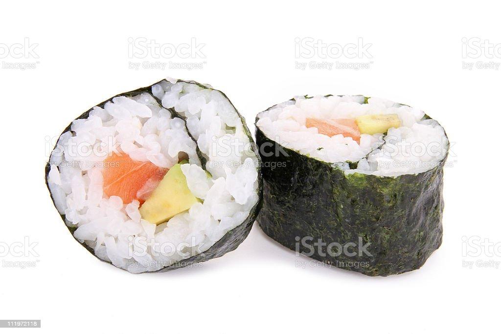 sushi maki isolated royalty-free stock photo