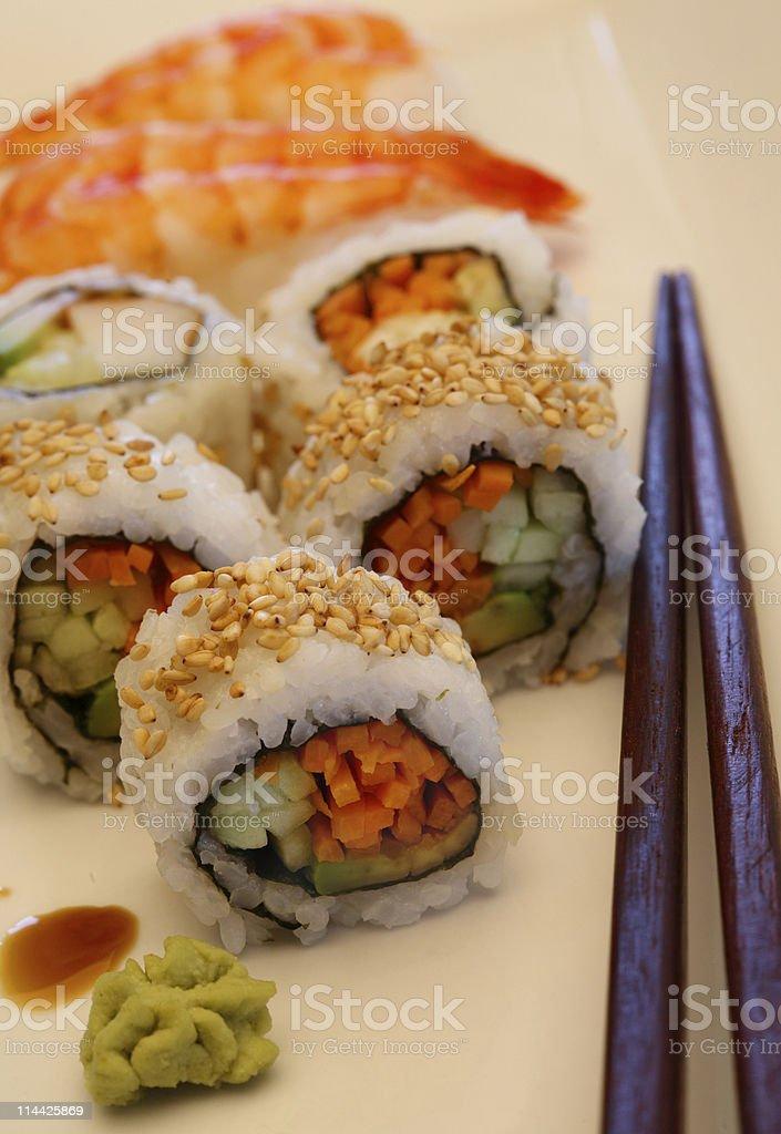 Sushi maki stock photo