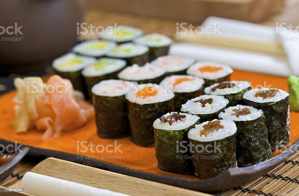 Sushi Maki Set royalty-free stock photo