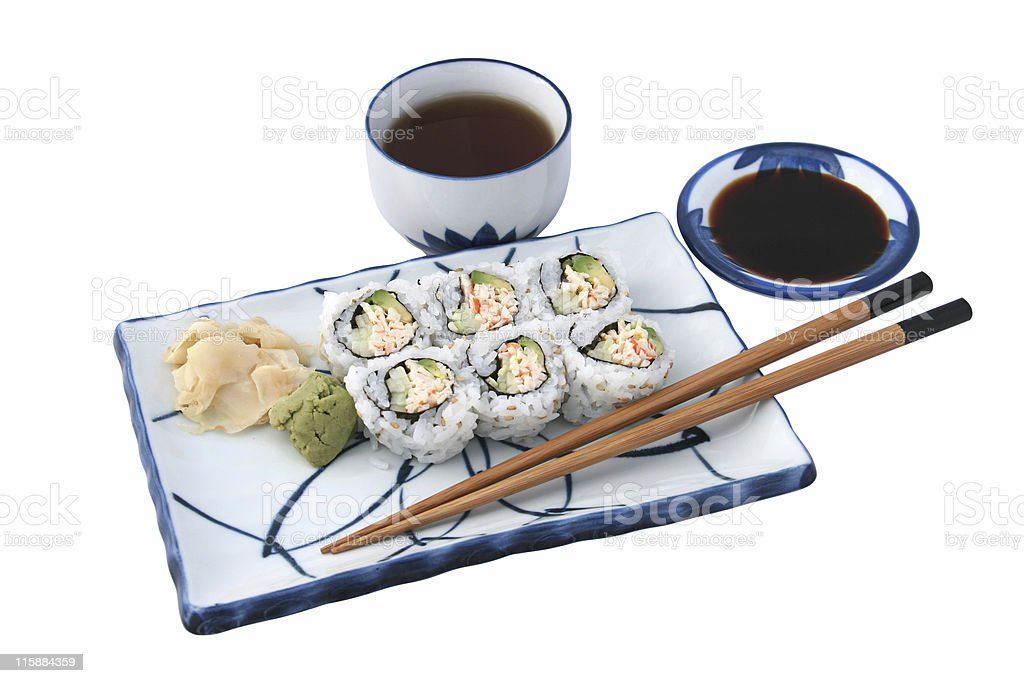 Sushi Meal Complete Isolated royalty-free stock photo