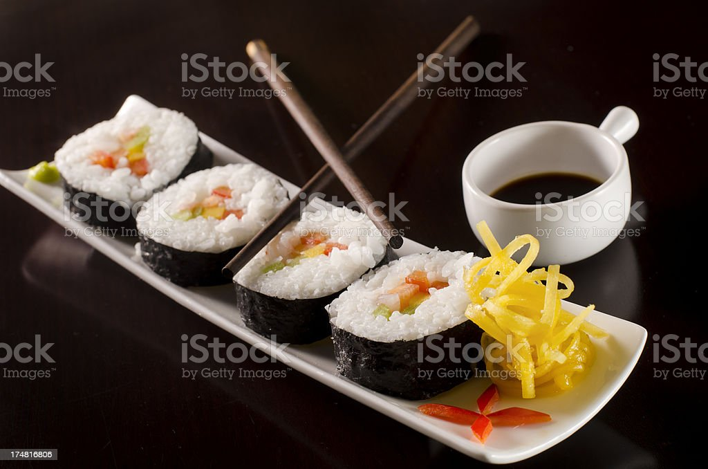 Sushi Meal in restaurant royalty-free stock photo