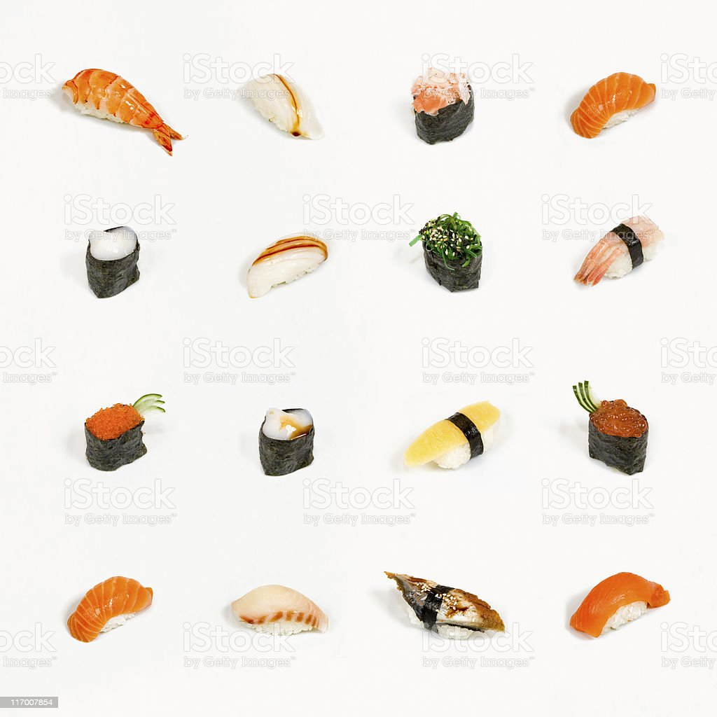 Sushi menu royalty-free stock photo