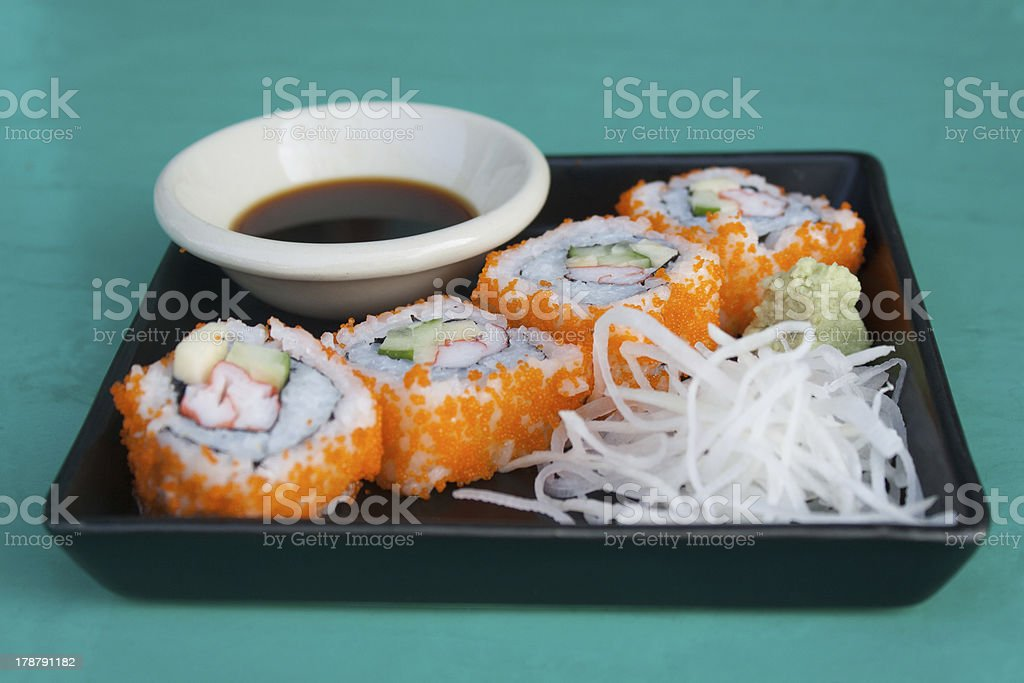 Sushi name 'California' royalty-free stock photo