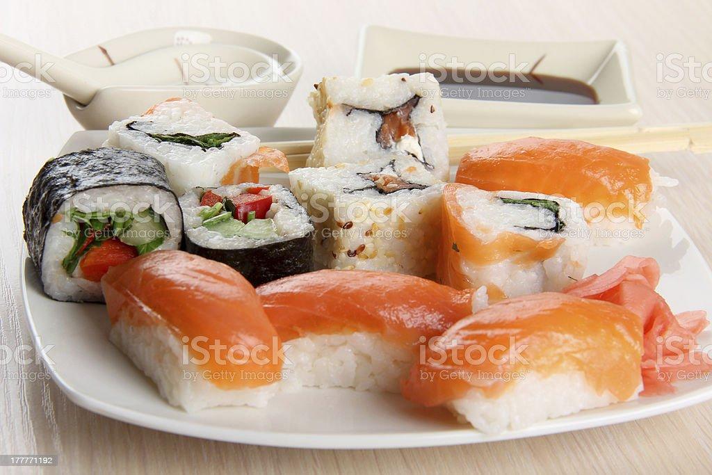 Sushi of fish royalty-free stock photo