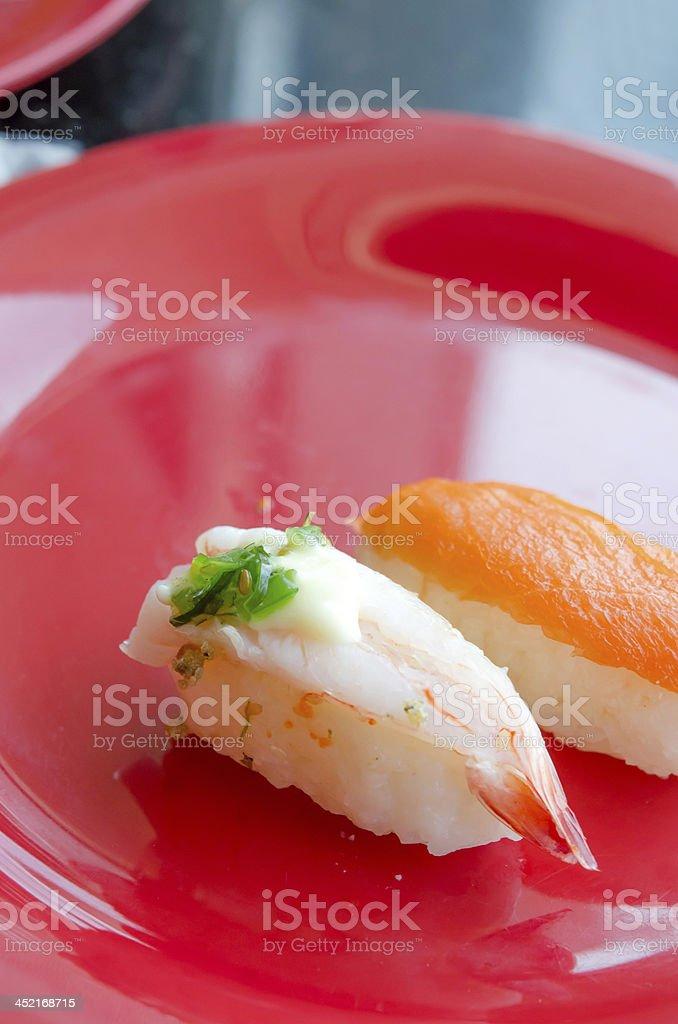 sushi on dish royalty-free stock photo