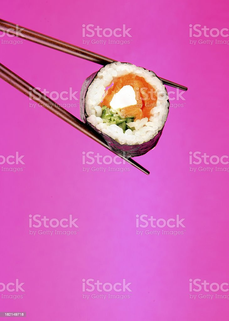 Sushi on pink royalty-free stock photo