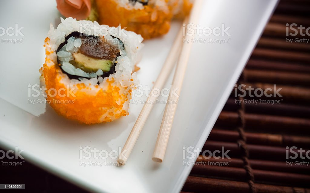 Sushi on Plate stock photo