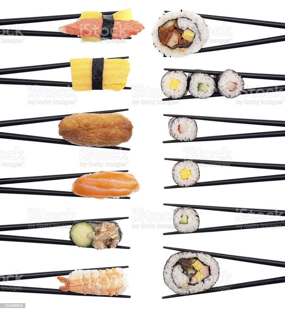 Sushi on the Menu royalty-free stock photo