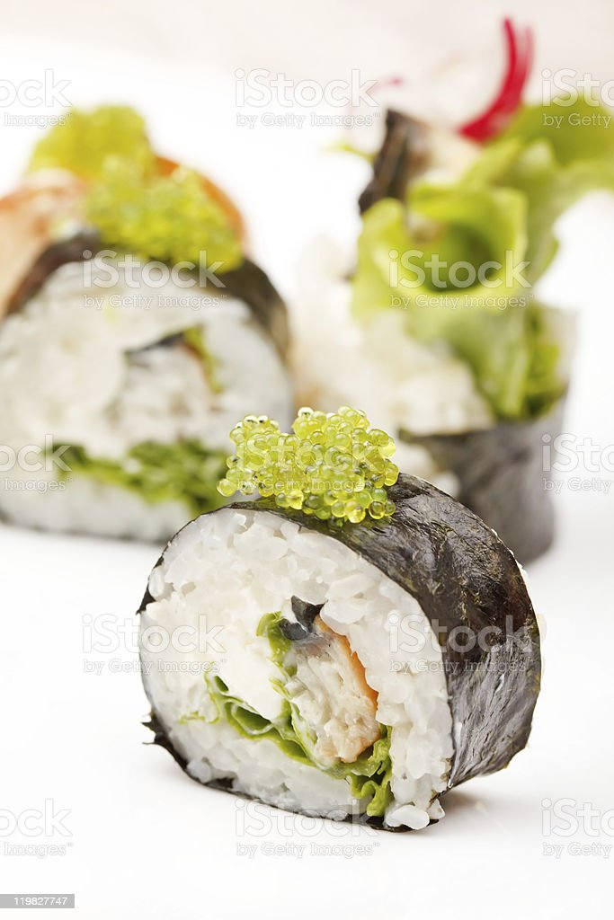 sushi on the plate royalty-free stock photo