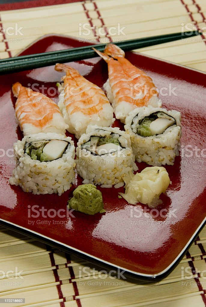 Sushi Plate 2 royalty-free stock photo