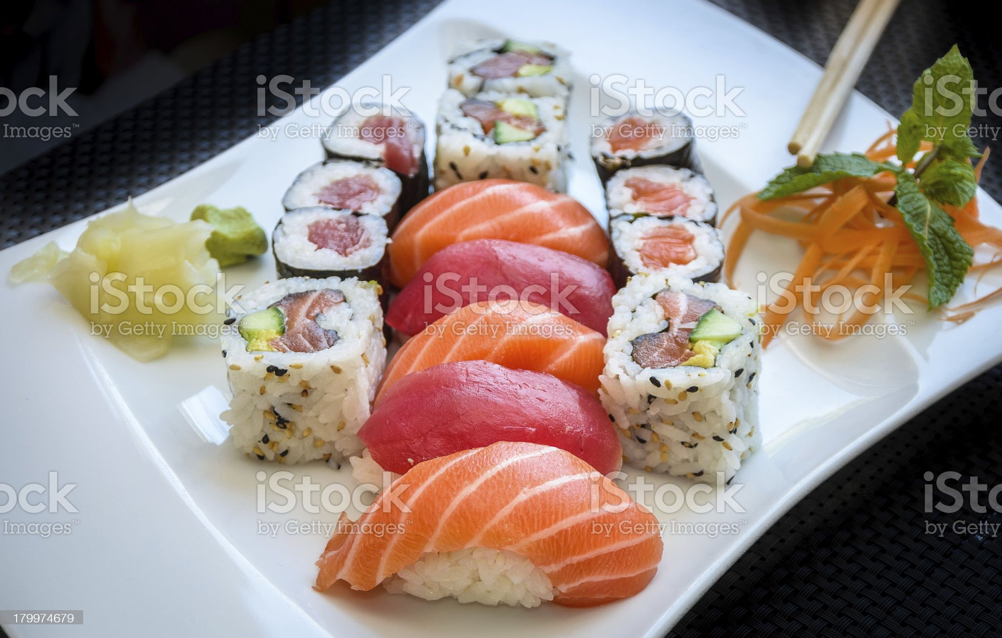 Sushi platter royalty-free stock photo