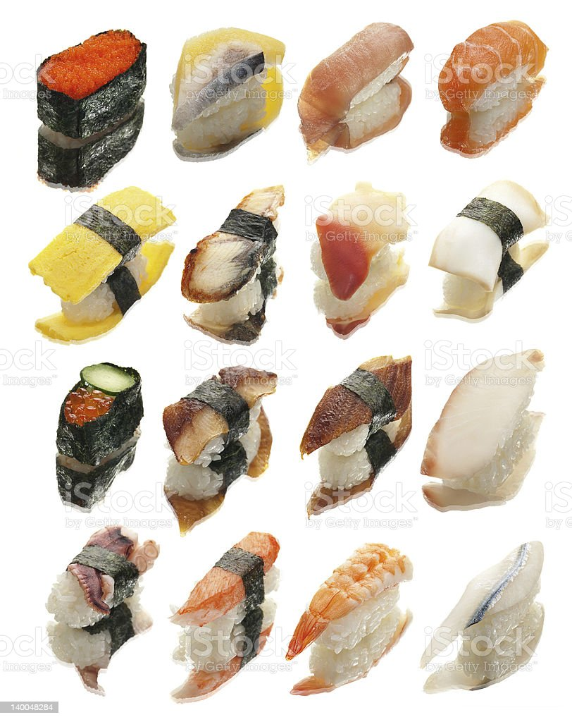 Sushi Reflections royalty-free stock photo