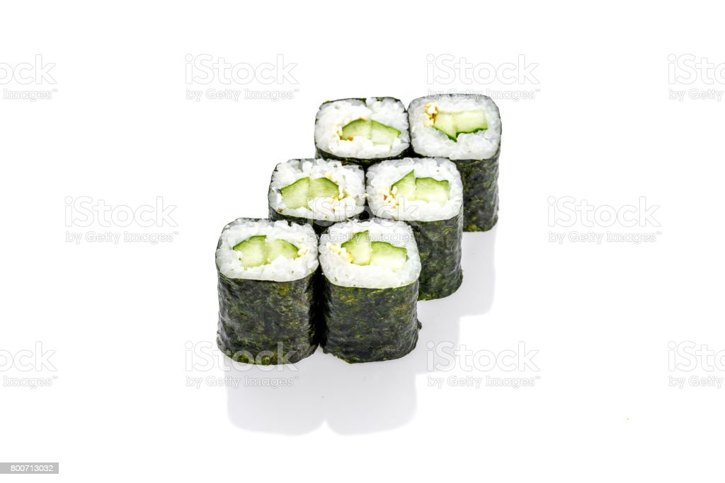sushi roll  cucumber, stock photo