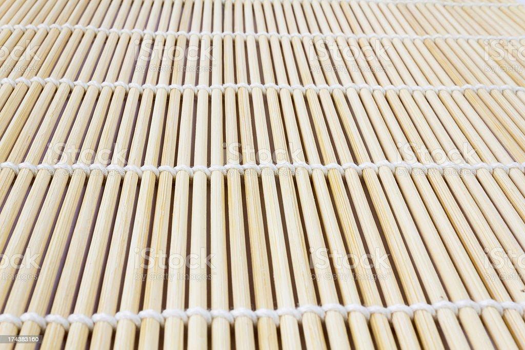 Sushi roll mat stock photo