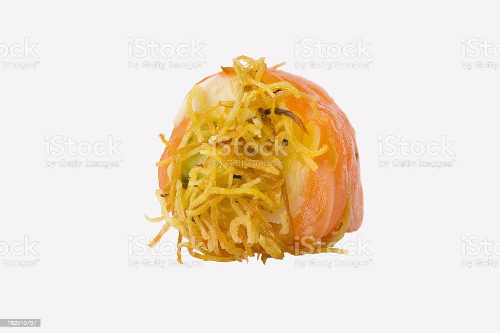 Sushi Roll salmon wrapped royalty-free stock photo