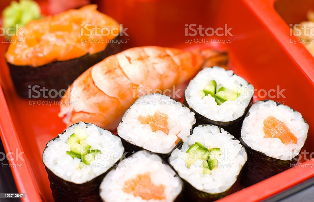 sushi rolls, macro royalty-free stock photo