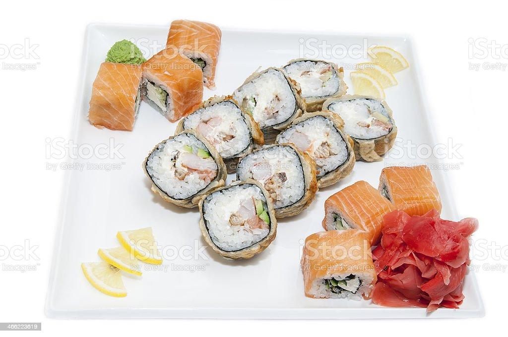 sushi, rolls royalty-free stock photo