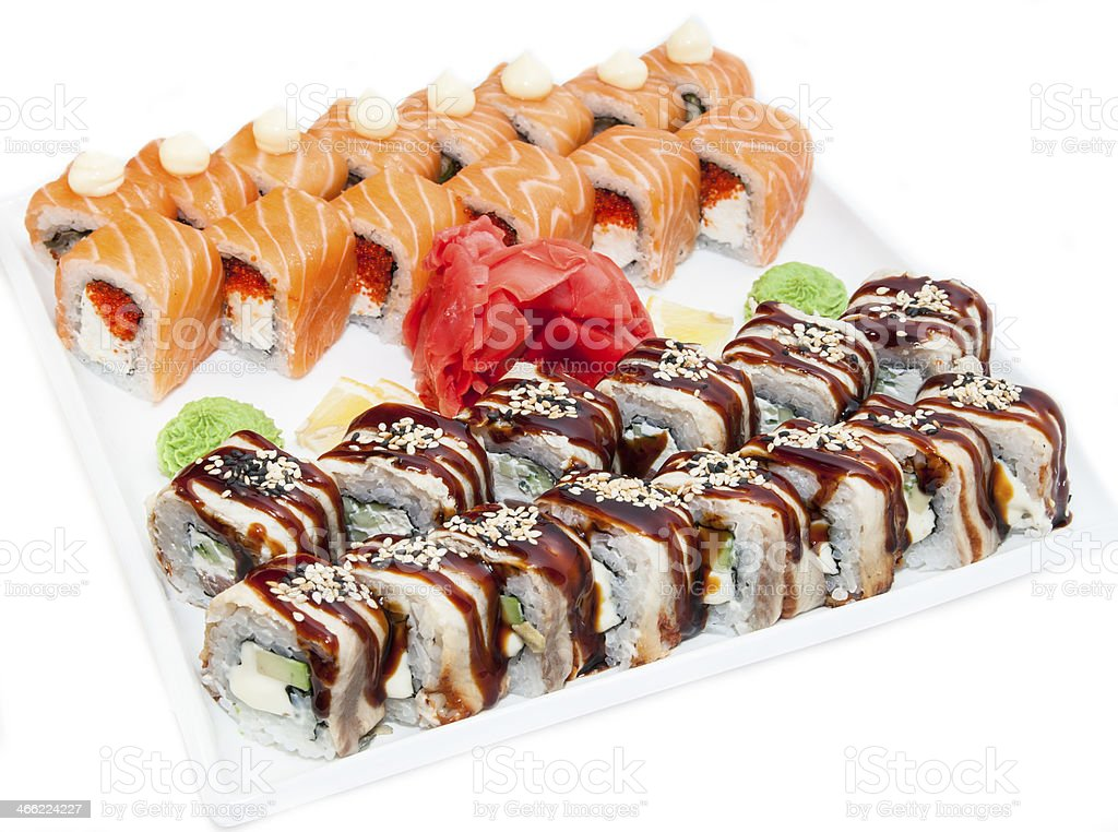 sushi, rolls royalty-free stock photo