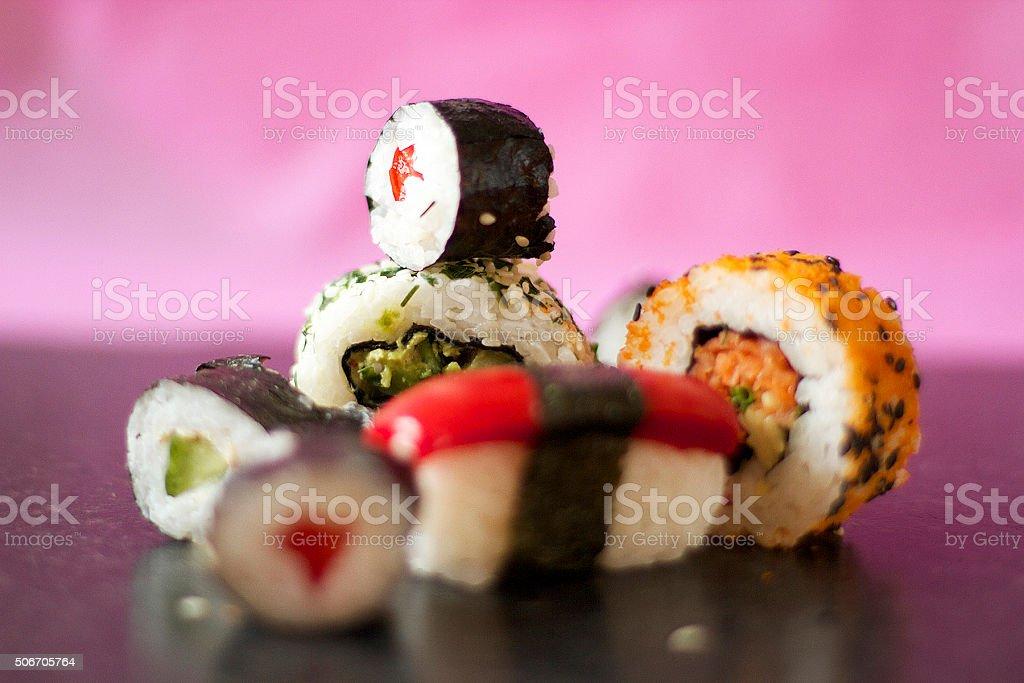 Involtini di Sushi foto stock royalty-free