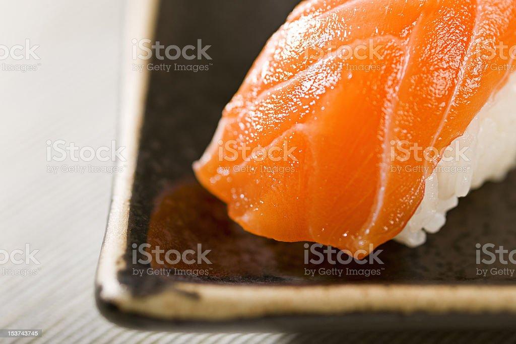 Sushi Sake royalty-free stock photo