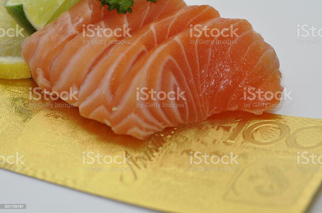 Sushi Salmon Expensive stock photo