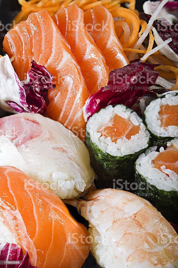 Sushi Sashimi and Maki royalty-free stock photo