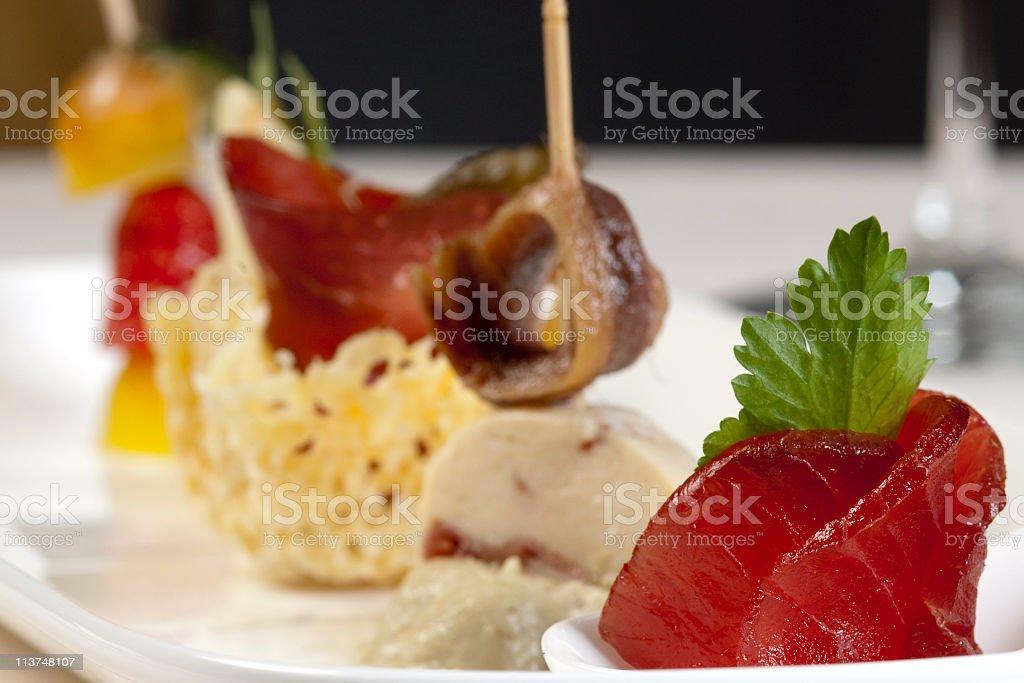 sushi sashimi seafood appetizer royalty-free stock photo