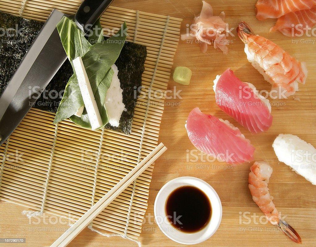 Sushi setup stock photo