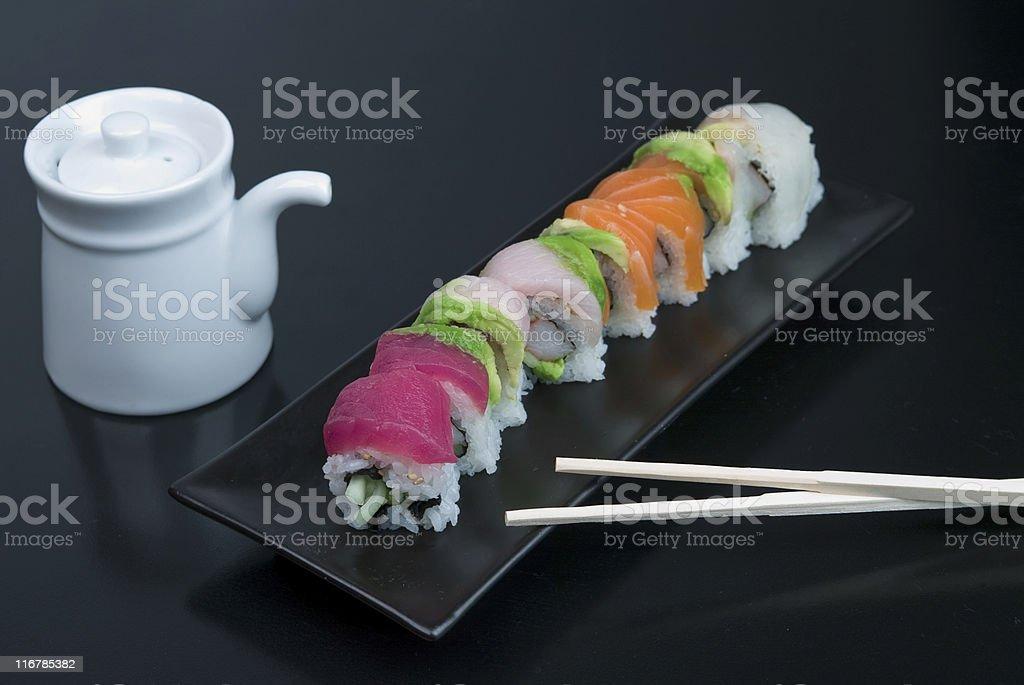 Sushi Spring Rolls royalty-free stock photo