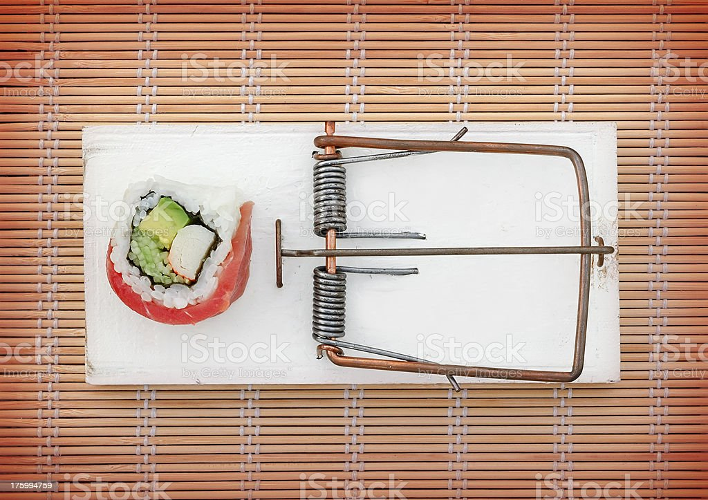 sushi trap ready stock photo