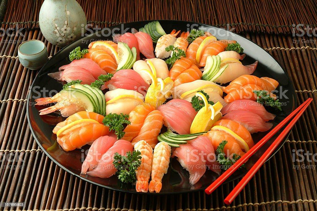 Sushi Tray royalty-free stock photo