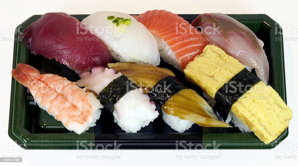 Sushi Tray royalty-free stock photo