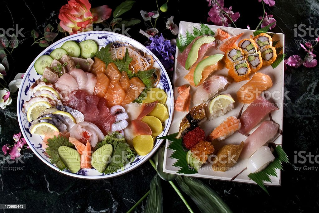 Sushi trays royalty-free stock photo