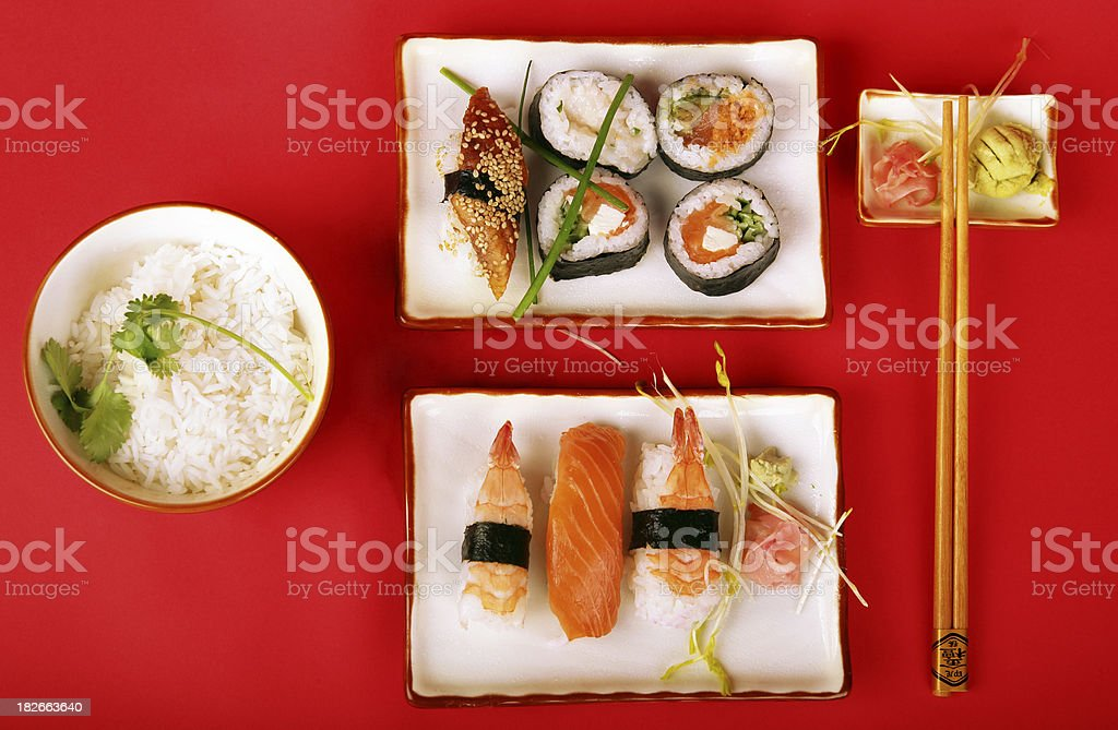 Sushi, up view royalty-free stock photo