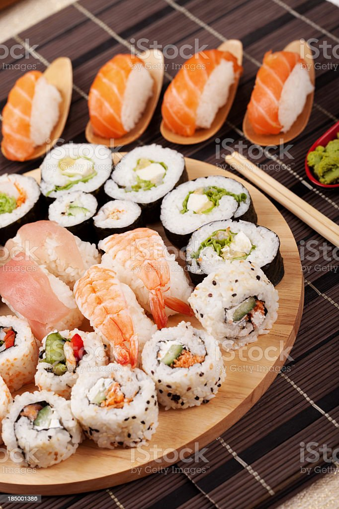 Sushi winter fuyu salmon royalty-free stock photo